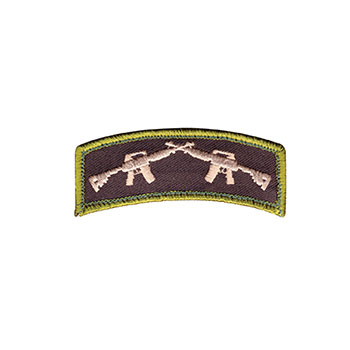 Crossed Rifles Embroidered Patch