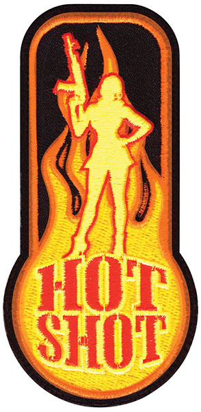 """Hot Shot"" Embroidered Patch"