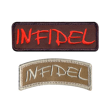 """Infidel"" Embroidered Patch"