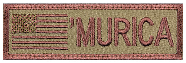 """'Murica"" Embroidered Patch"
