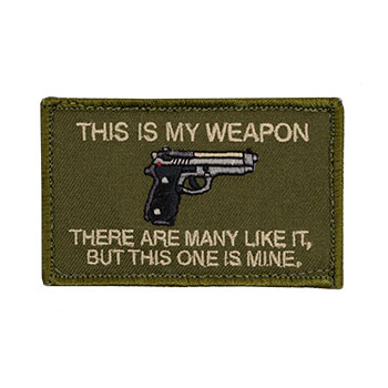 This is My Weapon - Baretta 93R Embroidered Patch
