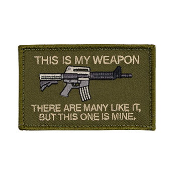 This is My Weapon - M4 Embroidered Patch