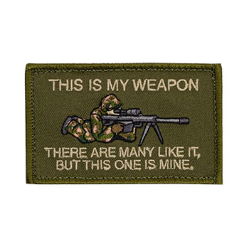 This is My Weapon - Sniper Embroidered Patch
