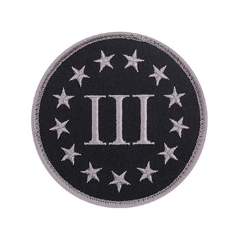 Three Percenter Embroidered Patch