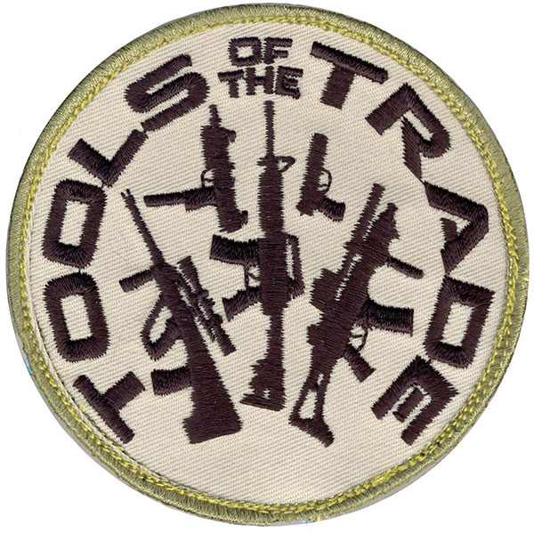 """Tools of the Trade"" Embroidered Patch"