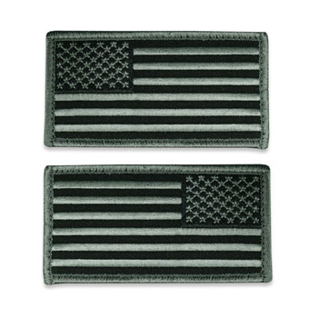 Tactical Velcro US Flag Patch - ACU