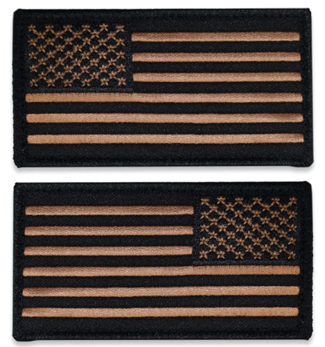 Tactical Velcro US Flag Patch - Dark Tan