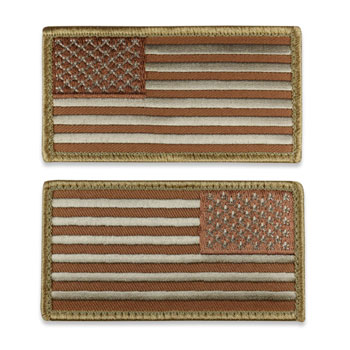 Tactical Velcro US Flag Patch - Desert