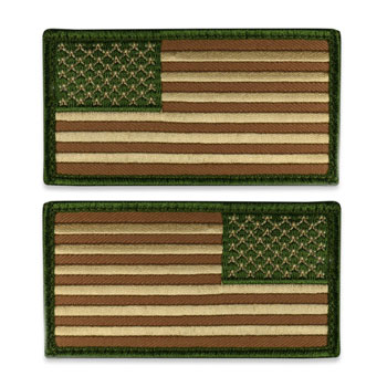 Tactical Velcro US Flag Patch - Multicam