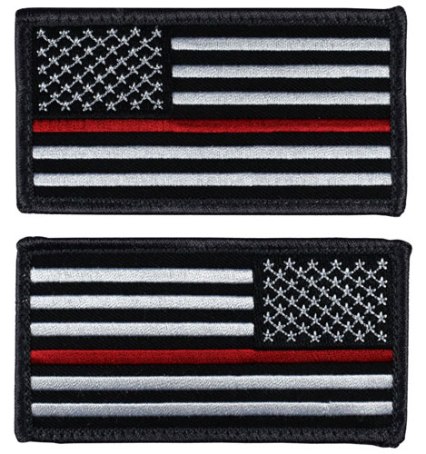 US Flag Patch - Thin Red Line