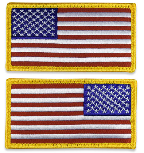 Tactical Velcro US Flag Patch - Standard Colors